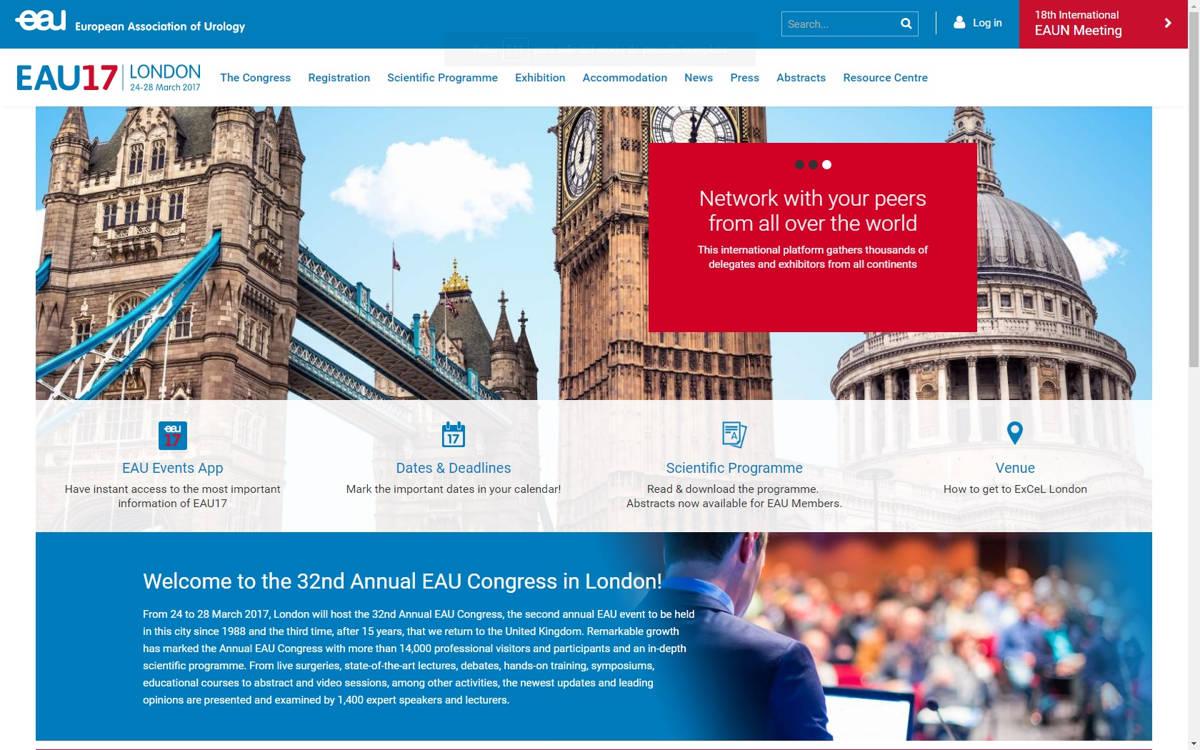 Participación en el Congreso Europeo de Urología – London 2017